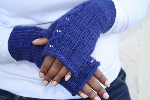 Purple Rain Mitts by Caryl Pierre