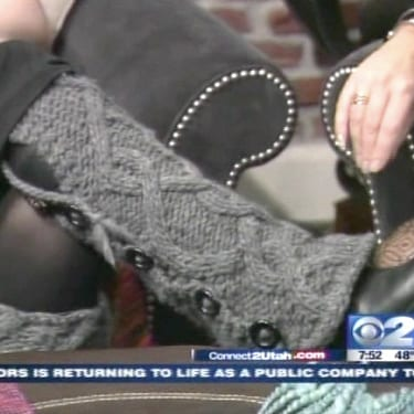 Bulky Cabled Legwarmers with Buttons - as seen on KUTV news!