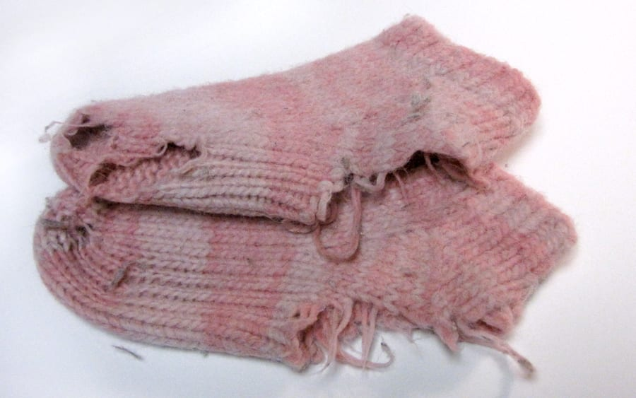 Gross worn-out socks from last year