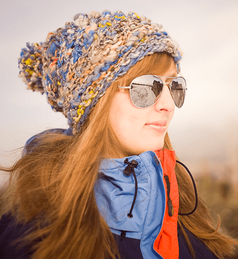 Aspen Ice Hat Free Hat Pattern For Extra Bulky Or Thickthin Yarn