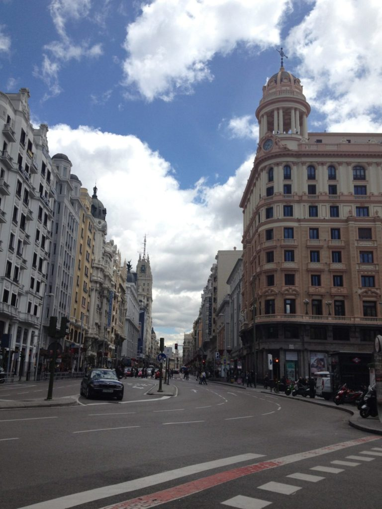 A typical street in Madrid - might be Calle Espejo