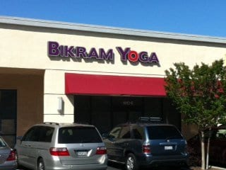 Bikram Yoga Mountain View sign