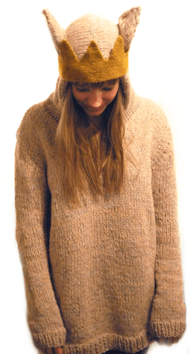 """""""Wear The Wild Things Are"""" hooded (and crowned) pullover"""