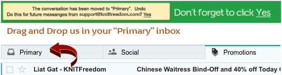 Gmail - move KnitFreedom email to Primary tab