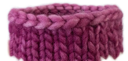 Bind-Off Trick: Neat Edge on Round Knitting