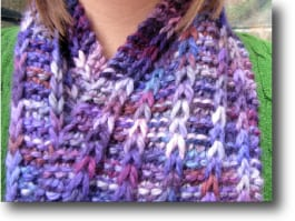 Scarf With a Slip-Stitch Pattern