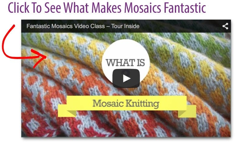 Video image of tour inside Fantastic Mosaics video class