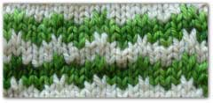 Swatch of zigzag stripes slip stitch mosaic pattern