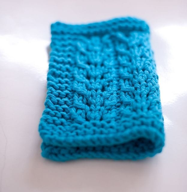 """Poplar"" lace dishcloth by Julia Stanfield – A very easy lace pattern"