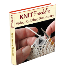 Cover image of the downloadable video knitting dictionary
