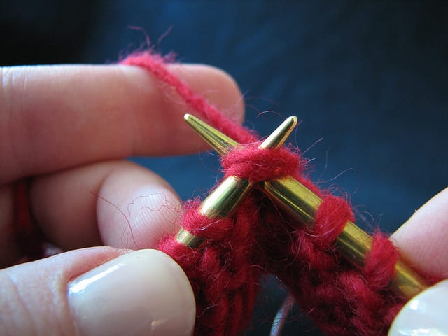 Addi Lace needles doing a k2tog