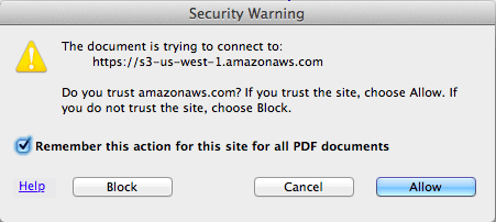 amazon.aws.com warning message