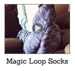 How To Knit Magic Loop Socks Video Class Thumbnail