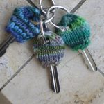 Knitted key cozy