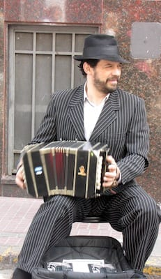 Street musician - accordion player in Buenos Aires
