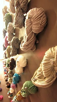 Wall of yarn in Buenos Aires