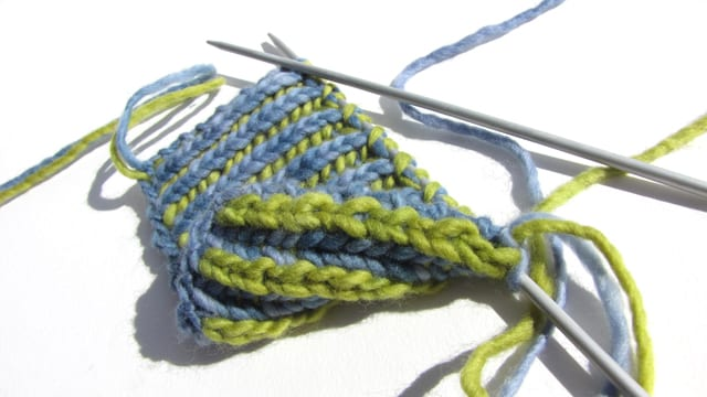 Two-Color Brioche Swatch