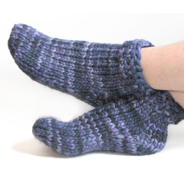 Knitting Pattern Chunky Bed Socks : Free Super Bulky Sock Pattern - Toe-Up/Top Down KnitFreedom