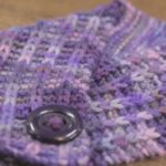 Aubergine Dreams - purple ribbed scarf
