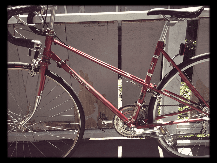 Used red Centurion from Cardinal Bike Shop in Palo Alto