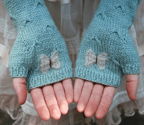 """Catching Butterflies"" fingerless mitts"