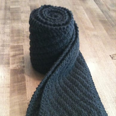Cashmere Scarf for Him - Zach stitch pattern