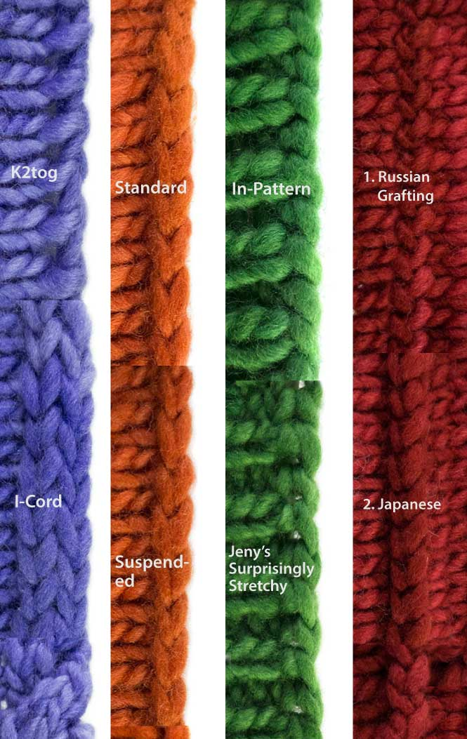 What All The Bind-Offs Look Like: A Bind-Off Extravaganza