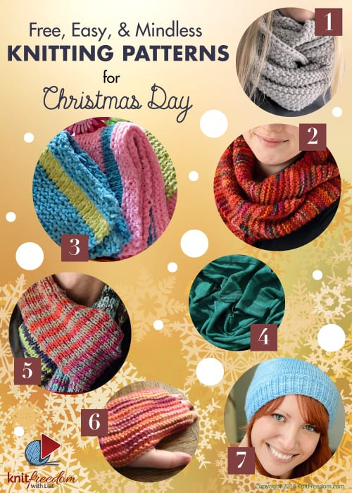 Easy, Mindless, and Free Knitting Patters for Christmas Day