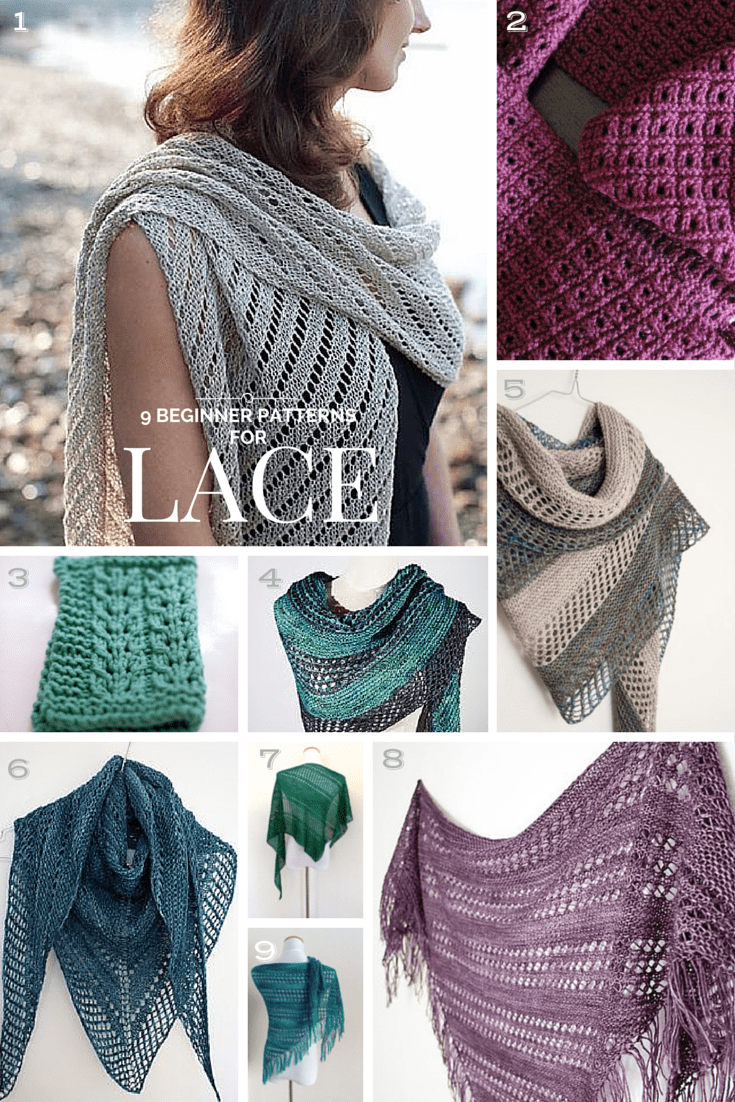 Super Easy Knitting Patterns For Beginners : 9 Top-Rated Lace-Knitting Projects for Beginners KnitFreedom